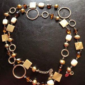 Vintage Lia Sophia Long Beaded Necklace